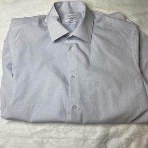 CALVIN KLEIN Men, Shirt Long sleeves Medium, Blue